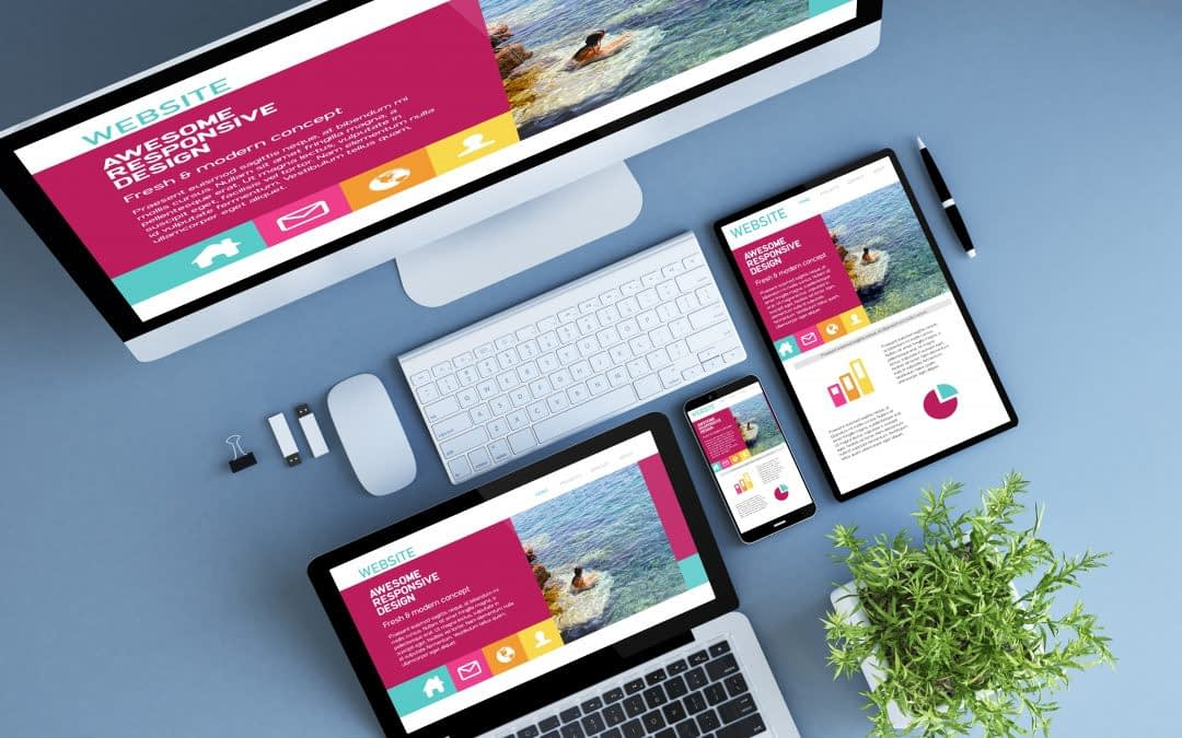 Responsive web design displayed on various devices