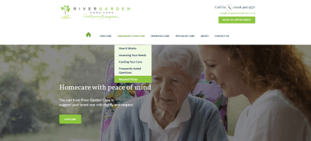 Responsive web design for a home care provider in Bromley