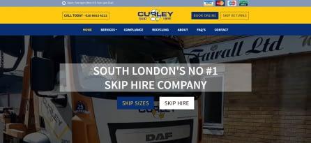 Website of a skip hire company in Thornton Heath