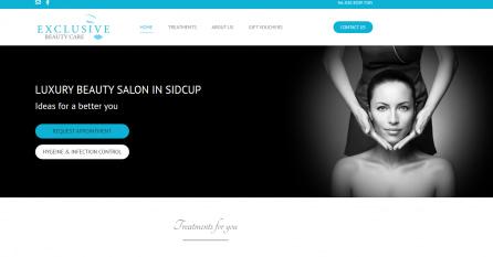 Wordpress Website of a Beauty Salon in Sidcup