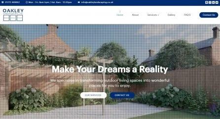 Website homepage designed by Step Internet for a landscape gardener