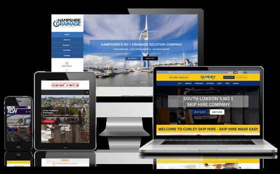 Responsive Web Design displayed on mobile, tablet and desktop